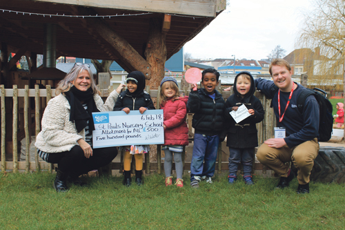 Allotment funding award for St Paul's Nursery School