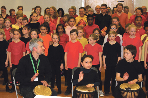 Schools join forces to perform Zimbe!