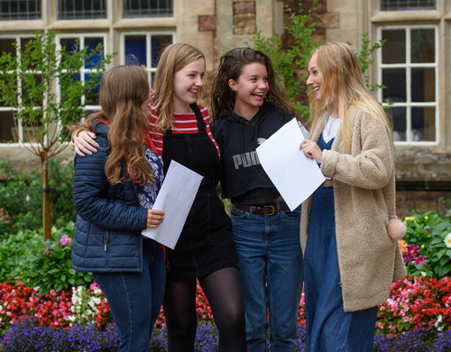 Happy scenes on results day at Clifton College