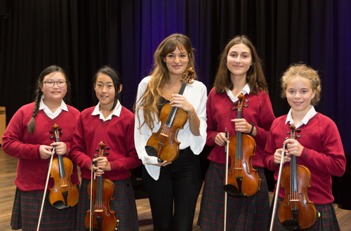 World-class violinist Nicola Benedetti performs at Redmaids' High School