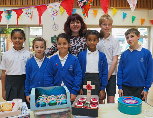 Bake Off's Briony goes back to school