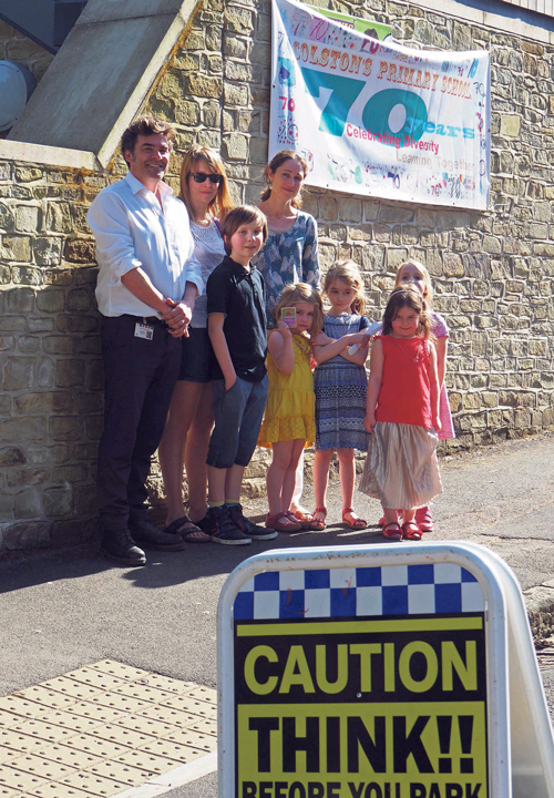 Parents present road safety petition to council