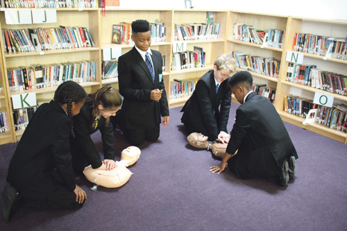 Students learn skills that can save a life