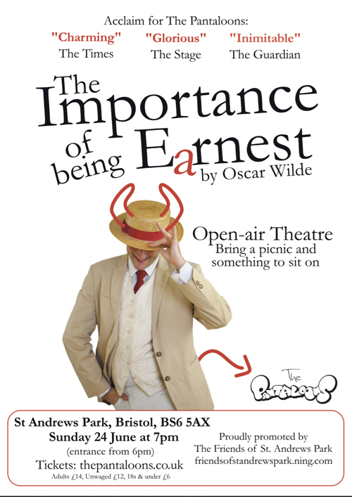 A performance of 'The Importance of being Earnest'