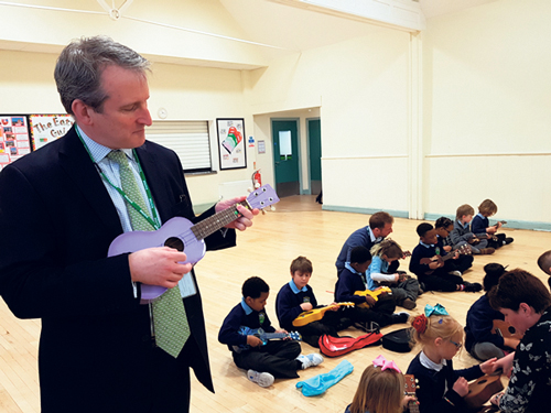 Education Secretary's visit marks  £1m funding boost for Bristol Plays Music