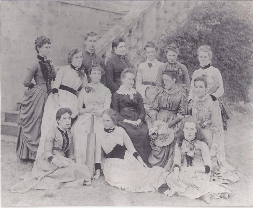 Miss Cocks & staff in the 1900s