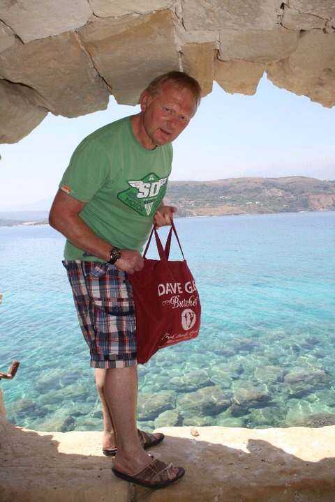 Dave Giles on holiday