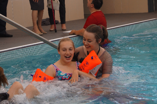 Hydrotherapy pool at Claremonth School