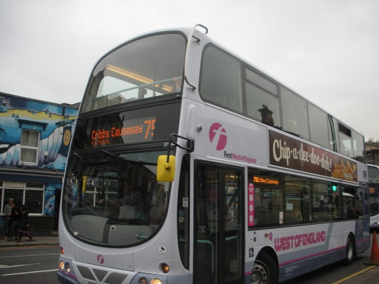 First bus on Gloucester Road