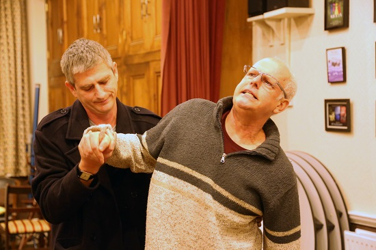 Phil Joyner as Cooper and Michael Jessup as Peter. Credit Mike Luckett - Kelvin Players