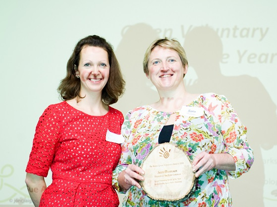Green Voluntary Leader Award - Sue Amiel, Spirit PR with winner Sam Thomson, Friends of Horfield Common