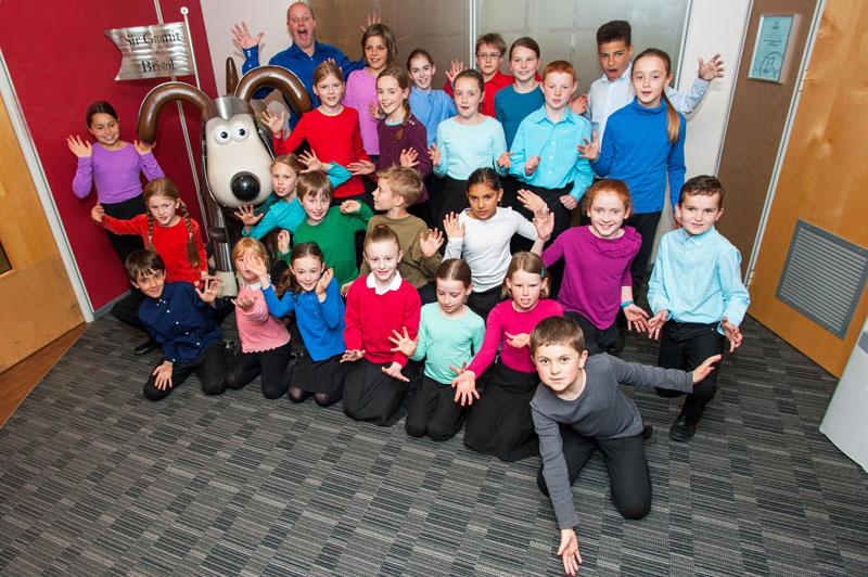 Bristol Youth Choir with Gromit