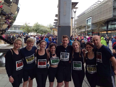 Team Giles after completing the Bristol 10k