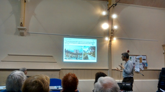 Peter Insole talks about Our Project at Bishopston Society meeting
