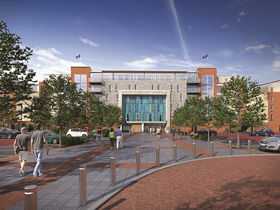 Computer generated image of the new County Cricket Ground entrance
