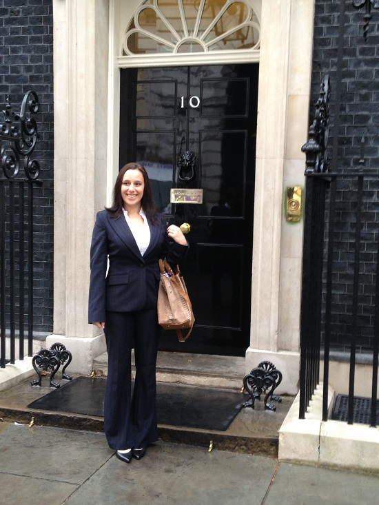 Fran Gore outside 10 Downing Street