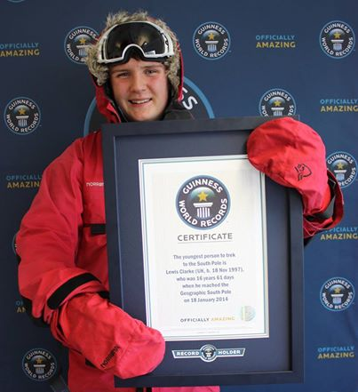 Lewis Clarke with Guinness World Record