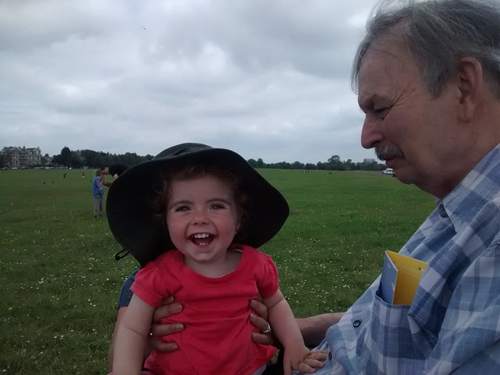 Isla and her granddad