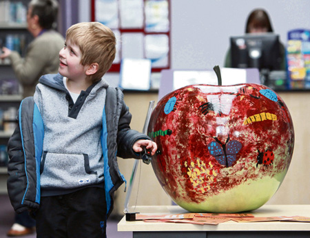 Fruitful day out for families on art trail