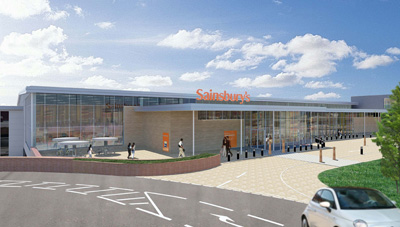 Artist's impression of the proposed Sainsbury's