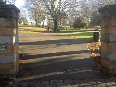 Work to St Andrew's Park entrances to improve safety