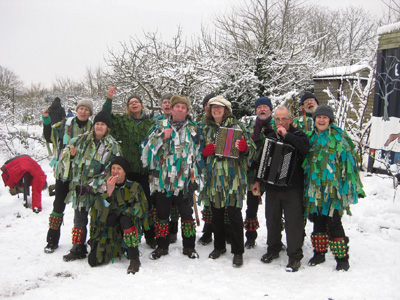 Pictures: Volunteers host a wintery wassail
