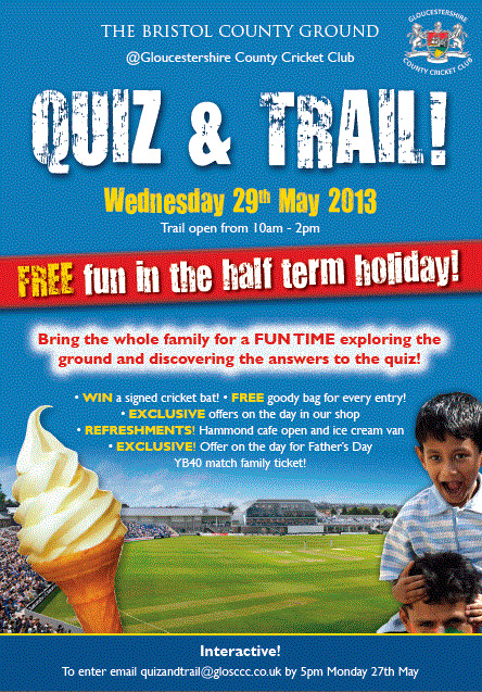 Free quiz and trail at The Bristol County Ground